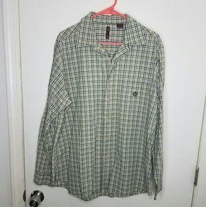 Perry Ellis America Shirt Long Sleeve Button men